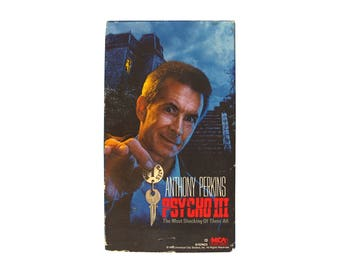 Psycho III VHS Horror 80s Anthony Perkins Norman Bates Motel