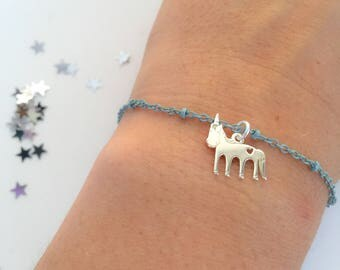 Dream Big - Unicorn bracelet with colored chain