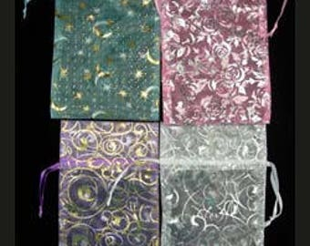 "Organza Drawstring Pouches Assorted Fancy Colors 3""x4"" (72 pieces) (DBX1293F)"