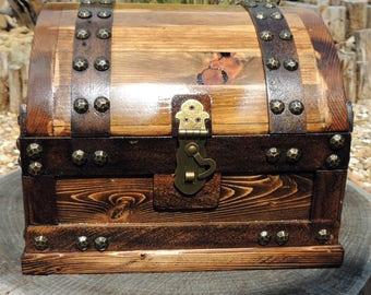Wood Treasure Chest Etsy