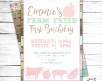 Farm Fresh Birthday Invitation