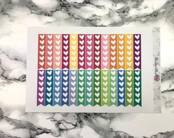 RF022 Heart Check List Planner Stickers