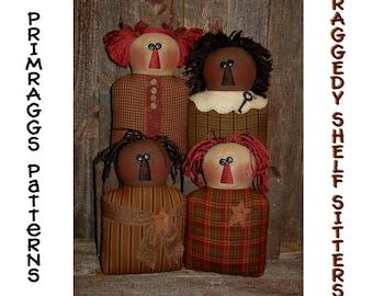 Primitive Rag Doll PATTERN Annie Stump Dolls - Raggedy Shelf Sitters -  Primraggs - instant download