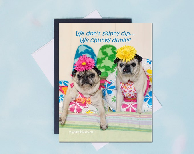 Pug Magnet - Chunky Dunk - 4x5 Pug magnet - by Pugs and Kisses