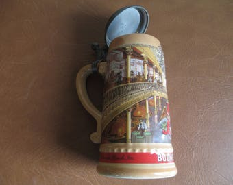 """Stein - Anheuser Busch Stein - Beer Steins - 1989 - Germany - 8"""" High - Certificate - Check Out Entire Collection! Great Gift Idea"""