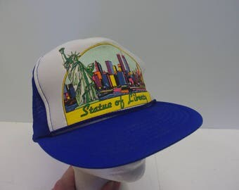 New York City Statue of Liberty Snapback mesh hat trucker 90s 1990s dad hat NYC