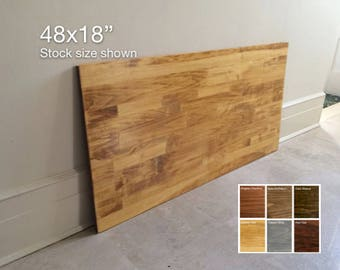 48x18 Aspen Small Wood Table Top or Desk Top. Made to Order. 6 Colors