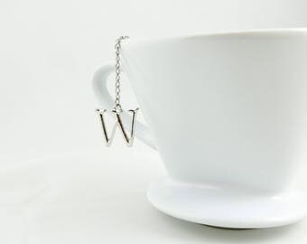 "Letter ""W"" Loose Tea Infuser Tea Strainer Mesh Loose Leaf Tea"