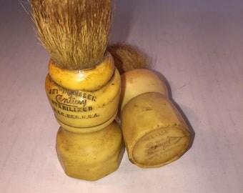 Two Antique Shaving Brushes Natural Bristle - Barber - Collectible - Antique - Original