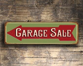 Garage Sale Sign, Garage Sale Directional Sign, Garage Sale Arrow Sign, Vintage Style Garage Sale Sign, Garage Sale Decor, For Sale Signs