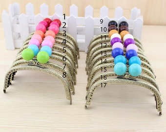 1 PCS, 12.5 cm / 4.9 inch Curved Solid Bubble Shape Bronze  Kiss Clasp Lock Purse Frame, 17 Colors Available, C33