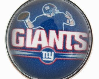 C0240  Art Glass Print Chunk - NY Giants  (Really from NJ!)