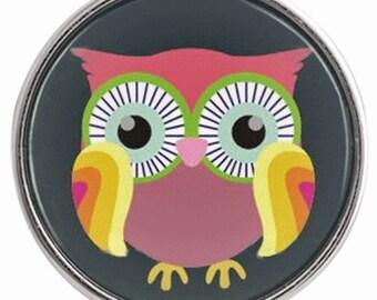 C0880  Art Glass Print Chunk - Hootey Owl