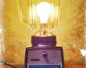 Repurposed Vintage Galaxie Blender Lamp