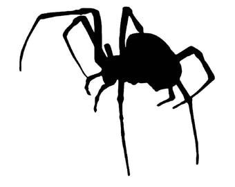 Huge Black Widow Spider Decal sticker arachnid venom fangs bite poison wall art car graphics room decor  AA07.22