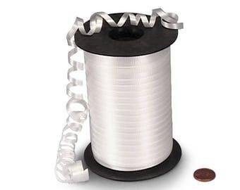 White Curling Ribbon 500 yards, Large Spool White Curling Ribbon, Gift Wrap Ribbon, Balloon Ribbon, Wedding Ribbon