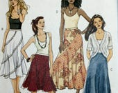 Misses Skirt Sewing Pattern - BOHO Skirt Sewing Pattern - Butterick 5042 - New- Uncut - Size 8 - 10 - 12 - 14