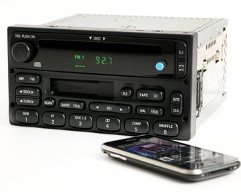 Ford Truck and Van Radio 1999-2010 AMFM CD Cassette w Bluetooth Music Upgrade Part Number: 1F2F-18C868-AA