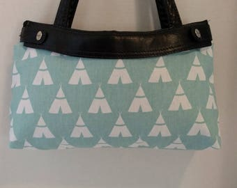 Tiny Tepees Skirt ONLY for Old Style Thirty-One Skirt Purse