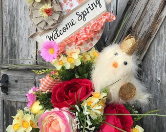 Easter Floral, Easter Arrangement, Easter Centerpiece, Spring Floral, Spring Arrangement, Spring Centerpiece, Easter Chick