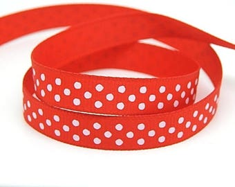 3 meters of Ribbon with polka dots grosgrain Ribbon 10mm