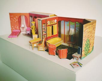 Miniature Vintage Barbie New Dreamhouse 1/6 scale for your Silkstone, Fashion Royalty, Blythe and other fashion dolls.