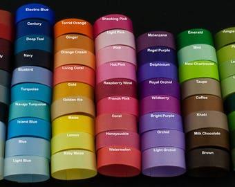 Ribbon 5/8 inch Solid Grosgrain Ribbon By the Yard, USA Made Ribbon, Hair Bow Ribbon, Wholesale Ribbon