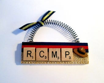 Royal Canadian Mounted Police Scrabble Tile Ornament