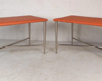 Pair of Mid-Century Modern Benches (9302)NJ