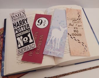 INSTANT DOWNLOAD | Harry Potter Inspired Bookmarks
