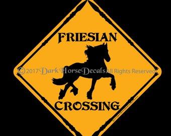 Friesian Crossing 12x12 Aluminum Sign