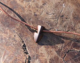 Yew wood Arrow Pendant