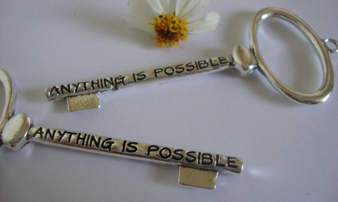 anything is possible key pendant jewelry pendantword key
