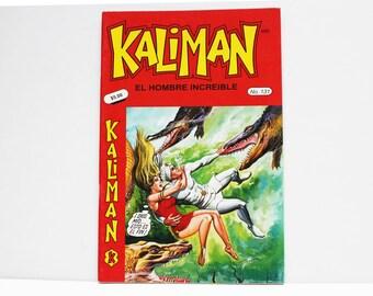 Kaliman El Hombre Increible No 131 El Faraon Sagrado y El Dragon Rojo Revista en Español Comic Book in Spanish RARE