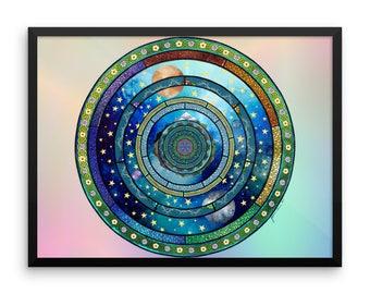 Otherworld Mandala Framed Poster
