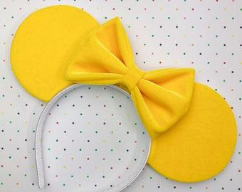 Mustard Yellow Velvet Mouse Ears
