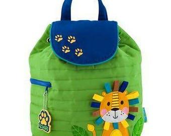 Personalized Lion Back Pack, Toddler Back pack, Baby Boy Diaper bag, preschool backpack