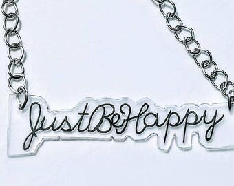 Quote Necklace. Statement Necklace.