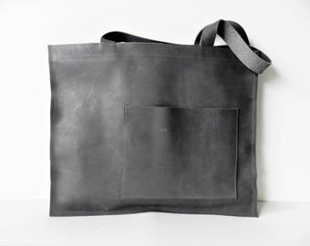 Leather Bag| Leather Tote Bag| Grey Leather Bag| Leather Shopper| Leather Shoulder Bag