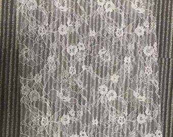 Chantilly Eyelash Lace, Chantilly Lace Fabric, 59 inches Wide for Veil, Dress, Costume, Craft Making, 3 Meter/piece,Designourlife lace