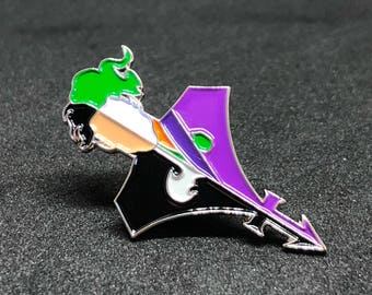 1989 Batman Movie Prince Partyman Soft Enamel Pin
