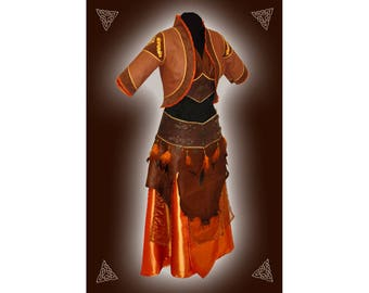 Ambars Set, Oriental leather garment, Bellydance