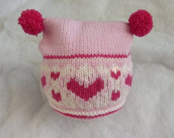 All natural merino baby hat. Size 3-6 months.