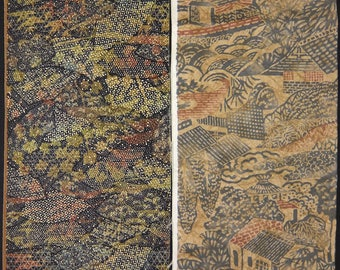Vintage kimono silk fabric 2 pcs #7443