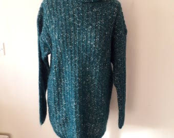 Vintage green polo jumper size 14-16