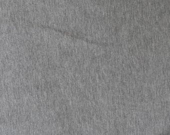 Fabric - cotton/elastane t-shirt weight jersey fabric -  grey marl - knit fabric.