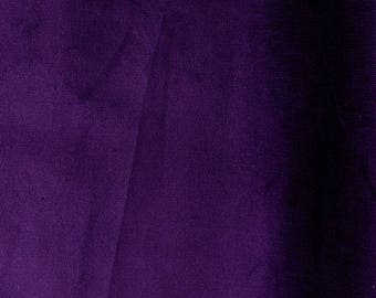 SALE - Fabric - Stretch needlecord -  aubergine - woven fabric with stretch - 70cm remnant