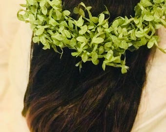 Large Greenery Crown for Brides or Maternity Photo Shoots-Graduate Photo Shoots-Hair Florals-Hair Halos-Wedding Hair Flowers-Wreath for Hair