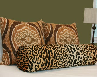 leopard velvet bolster pillow with insert queen king bed bolster pillow braemore jamil velvet bolster 9x36