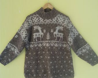 Ralph Lauren Cardigan Sweater Vintage 90s Size Medium